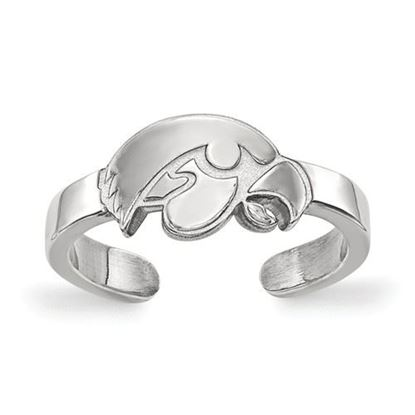 Picture of University of Iowa Hawkeyes Sterling Silver Toe Ring