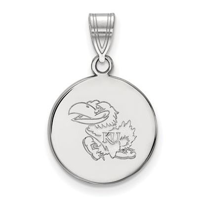Picture of University of Kansas Jayhawks Sterling Silver Medium Disc Pendant