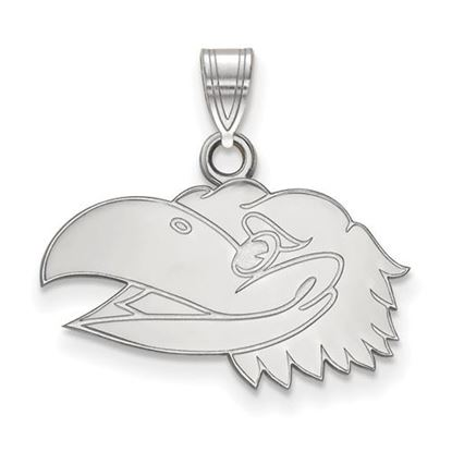Picture of University of Kansas Jayhawks Sterling Silver Small Pendant