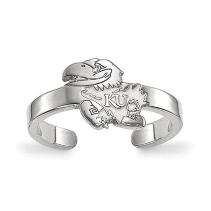 Picture of University of Kansas Jayhawks Sterling Silver Toe Ring