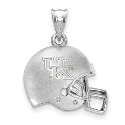 Picture of University of Kentucky Wildcats Sterling Silver 3D Football Helmet Logo Pendant