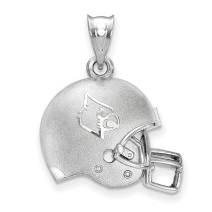 Picture of University of Louisville Cardinals Sterling Silver 3D Football Helmet Logo Pendant