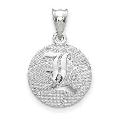 Picture of University of Louisville Cardinals Sterling Silver Basketball Pendant