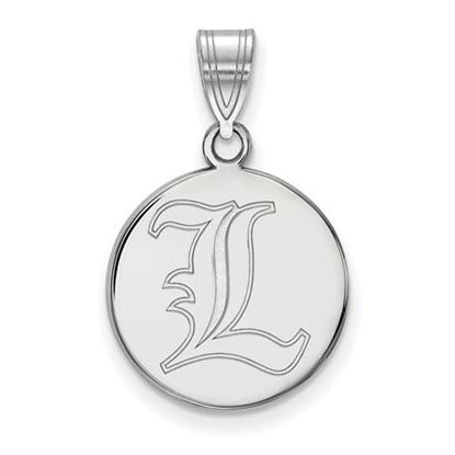Picture of University of Louisville Cardinals Sterling Silver Medium Disc Pendant