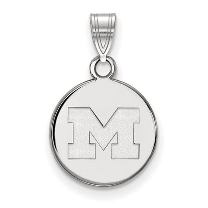 Picture of University of Michigan Wolverines Sterling Silver Small Disc Pendant