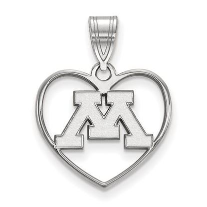 Picture of University of Minnesota Golden Gophers Sterling Silver Heart Pendant
