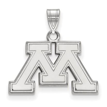 Picture of University of Minnesota Golden Gophers Sterling Silver Small Pendant