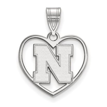 Picture of University of Nebraska Cornhuskers Sterling Silver Heart Pendant