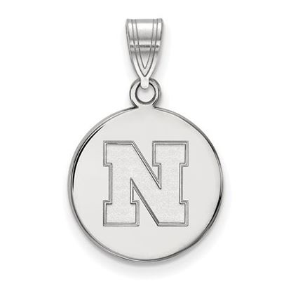 Picture of University of Nebraska Cornhuskers Sterling Silver Medium Disc Pendant
