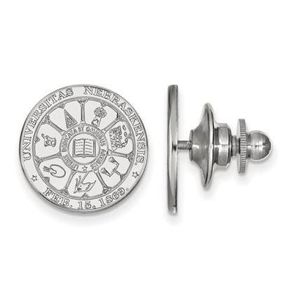 Picture of University of Nebraska Cornhuskers Sterling Silver Crest Lapel Pin