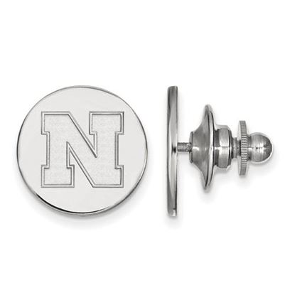 Picture of University of Nebraska Cornhuskers Sterling Silver Disc Lapel Pin