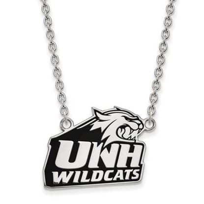 Picture of University of New Hampshire Wildcats Sterling Silver Large Enameled Necklace