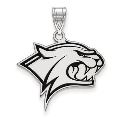 Picture of University of New Hampshire Wildcats Sterling Silver Large Enameled Pendant