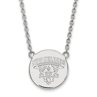 Picture of University of New Orleans Privateers Sterling Silver Large Disc Necklace