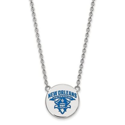 Picture of University of New Orleans Privateers Sterling Silver Large Enameled Disc Necklace