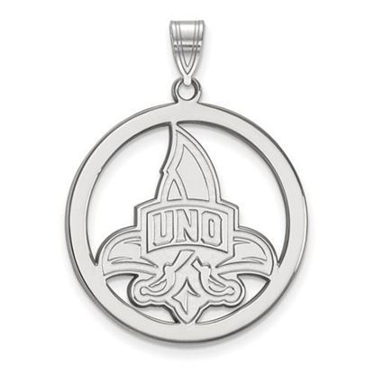 Picture of University of New Orleans Privateers Sterling Silver Large Circle Pendant