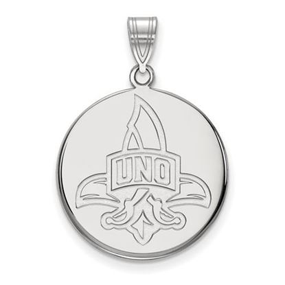 Picture of University of New Orleans Privateers Sterling Silver Large Disc Pendant