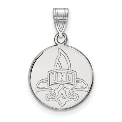 Picture of University of New Orleans Privateers Sterling Silver Medium Disc Pendant