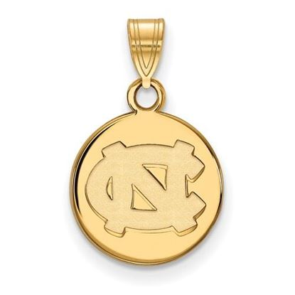 Picture of University of North Carolina Tar Heels Sterling Silver Small Disc Pendant