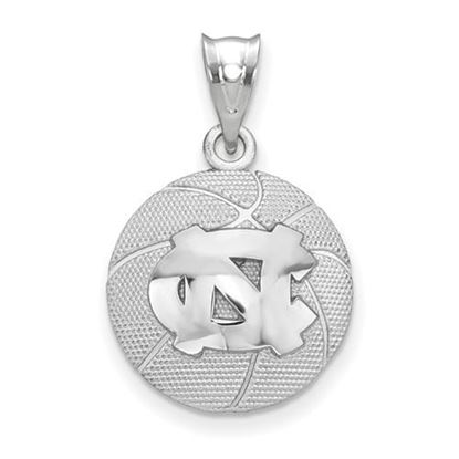 Picture of University of North Carolina Tar Heels Sterling Silver Basketball Pendant