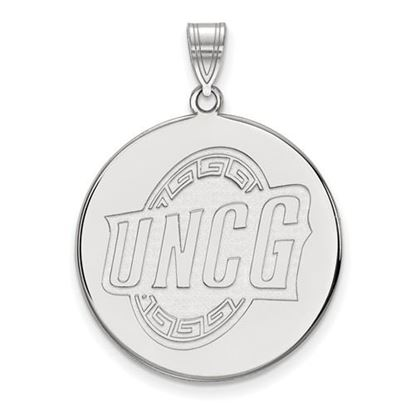 Picture of University of North Carolina at Greensboro Sterling Silver Extra Large Disc Pendant