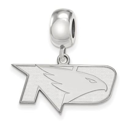Picture of University of North Dakota Fighting Hawks Sterling Silver Small Dangle Bead