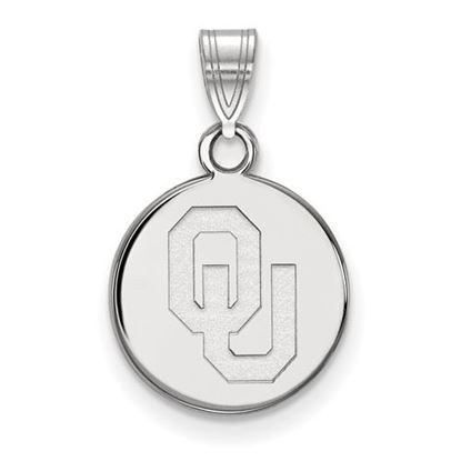 Picture of University of Oklahoma Sooners Sterling Silver Small Disc Pendant