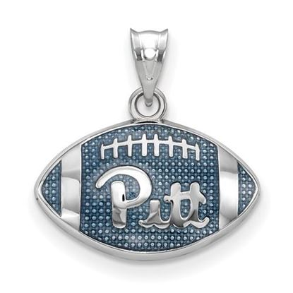 Picture of University of Pittsburgh Panthers Sterling Silver Enameled Football Pendant