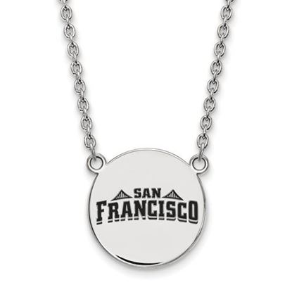 Picture of University of San Francisco Dons Sterling Silver Large Enameled Disc Necklace