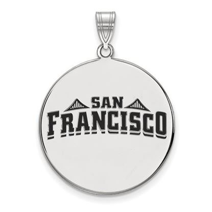 Picture of University of San Francisco Dons Sterling Silver Extra Large Enameled Disc Pendant