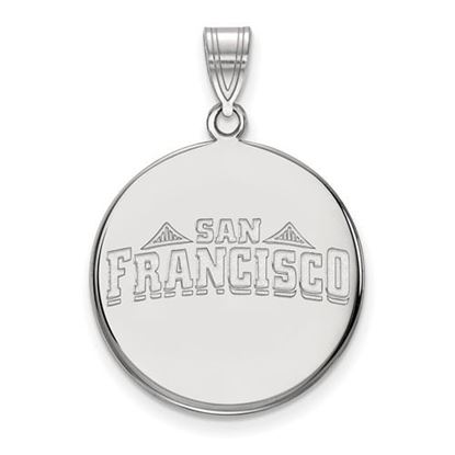 Picture of University of San Francisco Dons Sterling Silver Large Disc Pendant