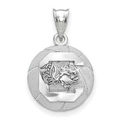 Picture of University of South Carolina Gamecocks Sterling Silver Basketball Pendant