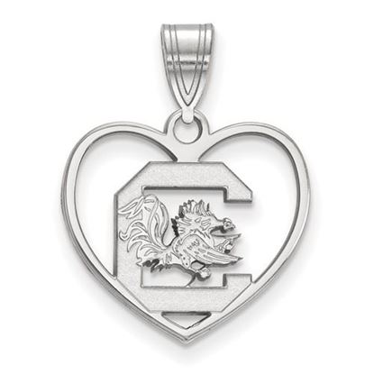 Picture of University of South Carolina Gamecocks Sterling Silver Heart Pendant