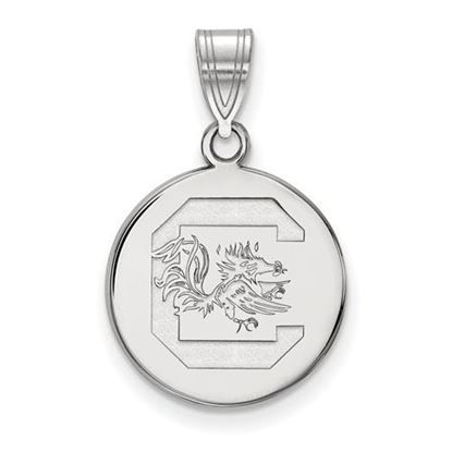 Picture of University of South Carolina Gamecocks Sterling Silver Medium Disc Pendant