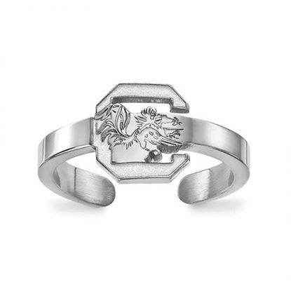 Picture of University of South Carolina Gamecocks Sterling Silver Toe Ring