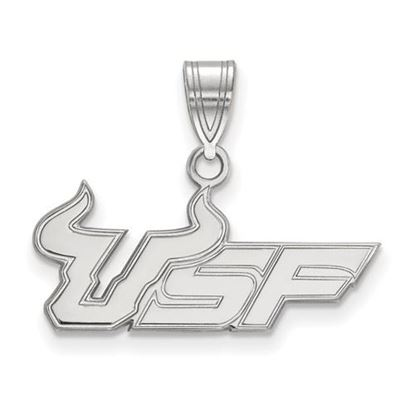 Picture of University of South Florida Bulls Sterling Silver Medium Pendant