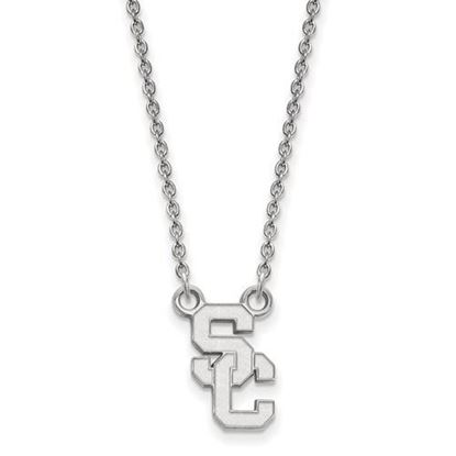 Picture of University of Southern California Trojans Sterling Silver Small Necklace