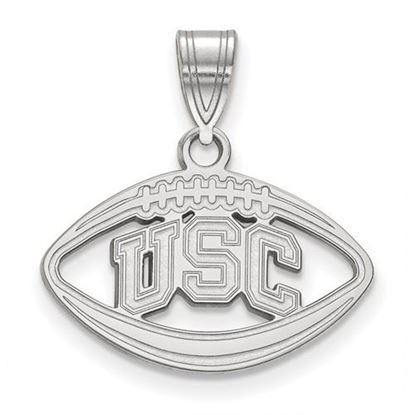 Picture of University of Southern California Sterling Silver Football Pendant