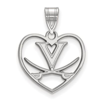 Picture of University of Virginia Cavaliers Sterling Silver Heart Pendant