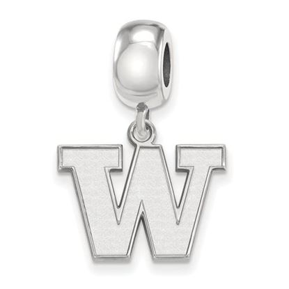 Picture of University of Washington Huskies Sterling Silver Small Dangle Bead