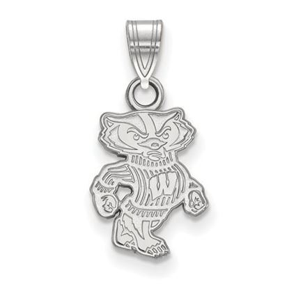 Picture of University of Wisconsin Badgers Sterling Silver Small Pendant