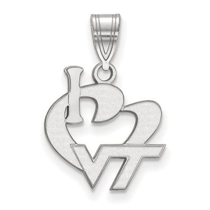 Picture of Virginia Tech Hokies Sterling Silver Large I Love Logo Pendant