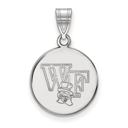 Picture of Wake Forest University Demon Deacons Sterling Silver Medium Disc Pendant