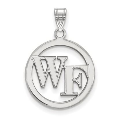 Picture of Wake Forest University Demon Deacons Sterling Silver Small Circle Pendant