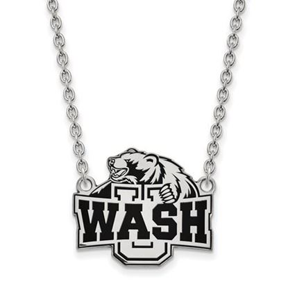 Picture of Washington University St. Louis Bears Bears Sterling Silver Large Enameled Necklace