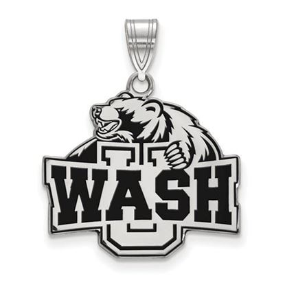 Picture of Washington University St. Louis Bears Bears Sterling Silver Large Enameled Pendant