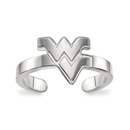 Picture of West Virginia University Mountaineers Sterling Silver Toe Ring