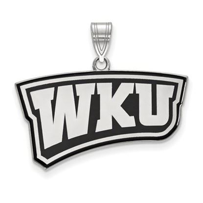 Picture of Western Kentucky University Hilltoppers Sterling Silver Large Enameled Pendant