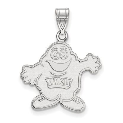 Picture of Western Kentucky University Hilltoppers Sterling Silver Large Pendant