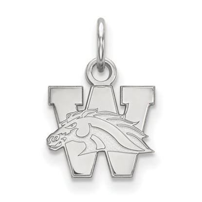 Picture of Western Michigan University Broncos Sterling Silver Extra Small Pendant
